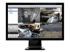 Security Cameras Remote Monitoring from Computer image